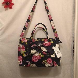 Large Blue floral print purse - Betsey Johnson